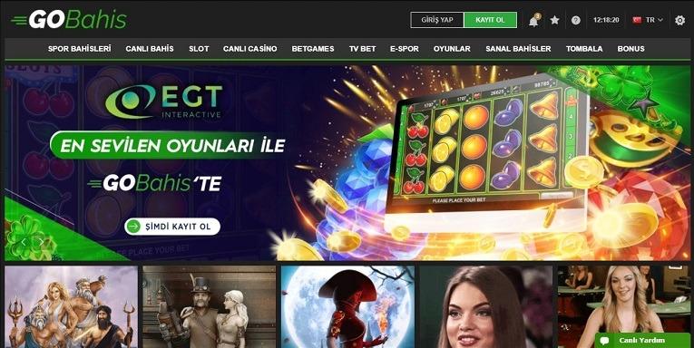 Gobahis Casino Oyunları Ekranı