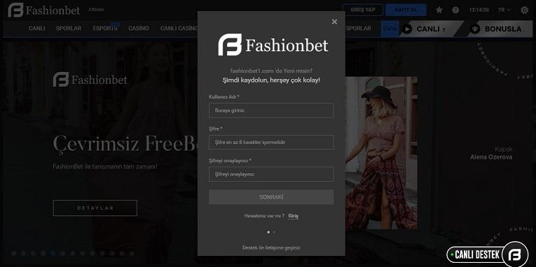 Fashionbet Kayıt Olma Sayfası