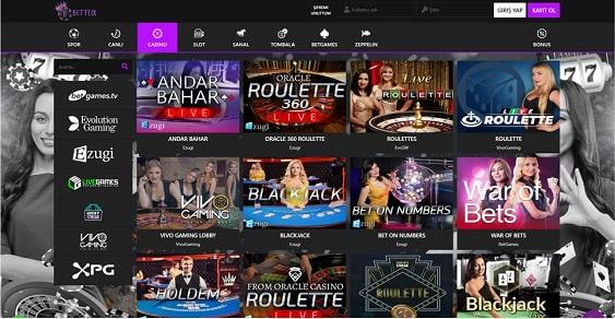 Betflix Slot Oyunları Ekranı