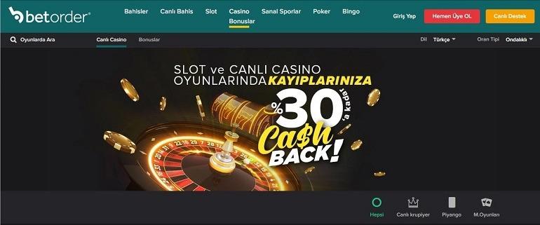Betorder Slot Oyun Sayfası