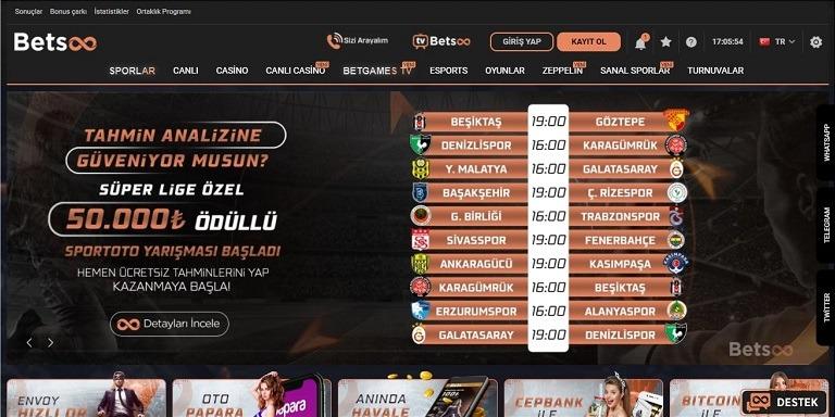 Betsoo Anasayfa Ekranı