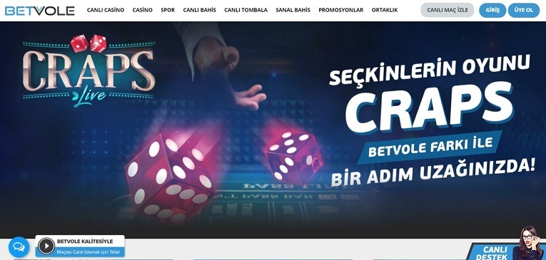 Betvole Canlı Casino Sayfası