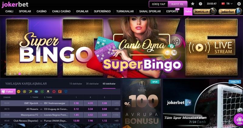 jokerbet canlı casino sayfası