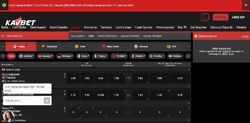 kavbet canlı casino sayfası