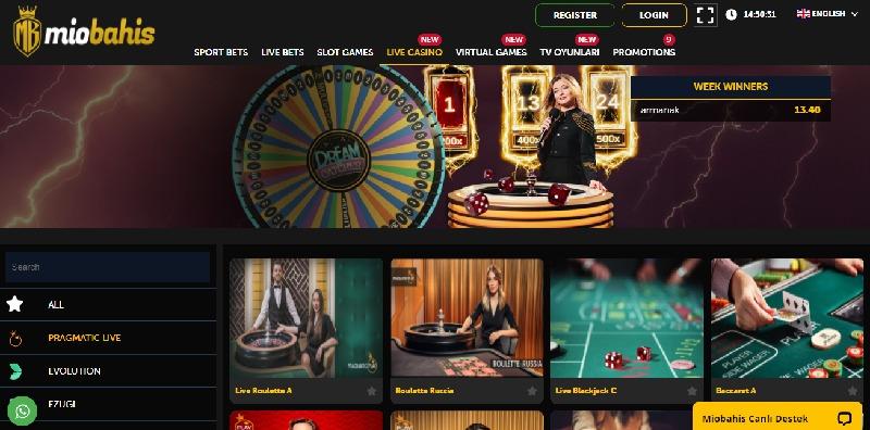Miobahis Slot Oyunları Ekranı