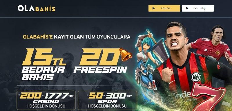 Olabahis Anasayfa Ekranı