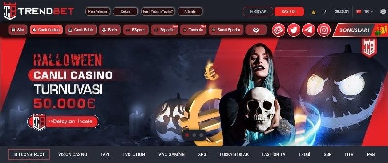 Trendbet Canlı Casino Sayfası