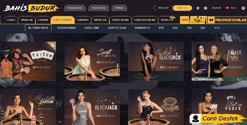 bahisbudur casino oyunları
