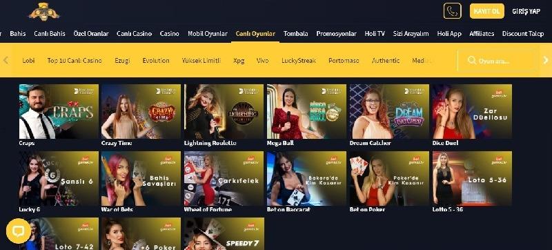 holiganbet slot oyunları sayfası