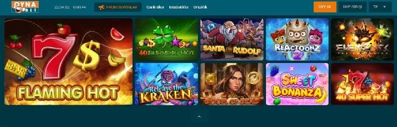 oynabet slot oyunları çeşitleri